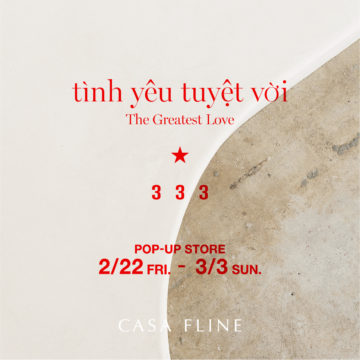 """333 POP-UP STORE at CASA FLINE"""